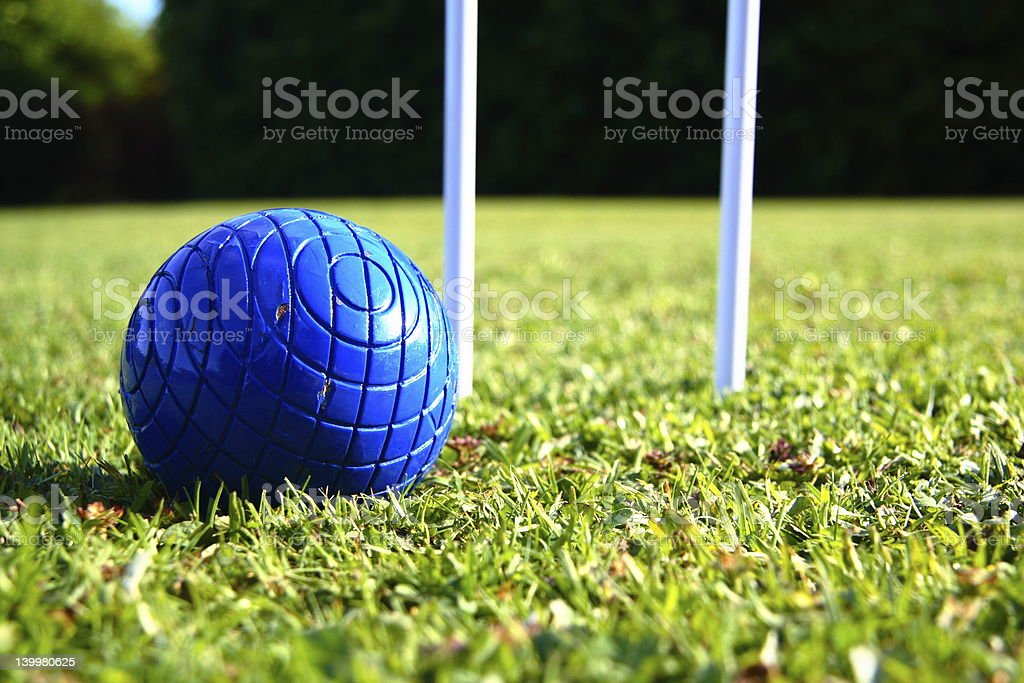 Croquet ball stock photo