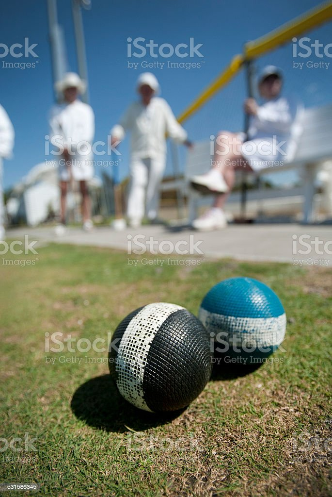 Croquet Balls and Team stock photo