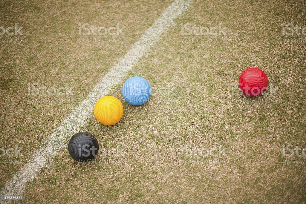 Croquet Equipment stock photo