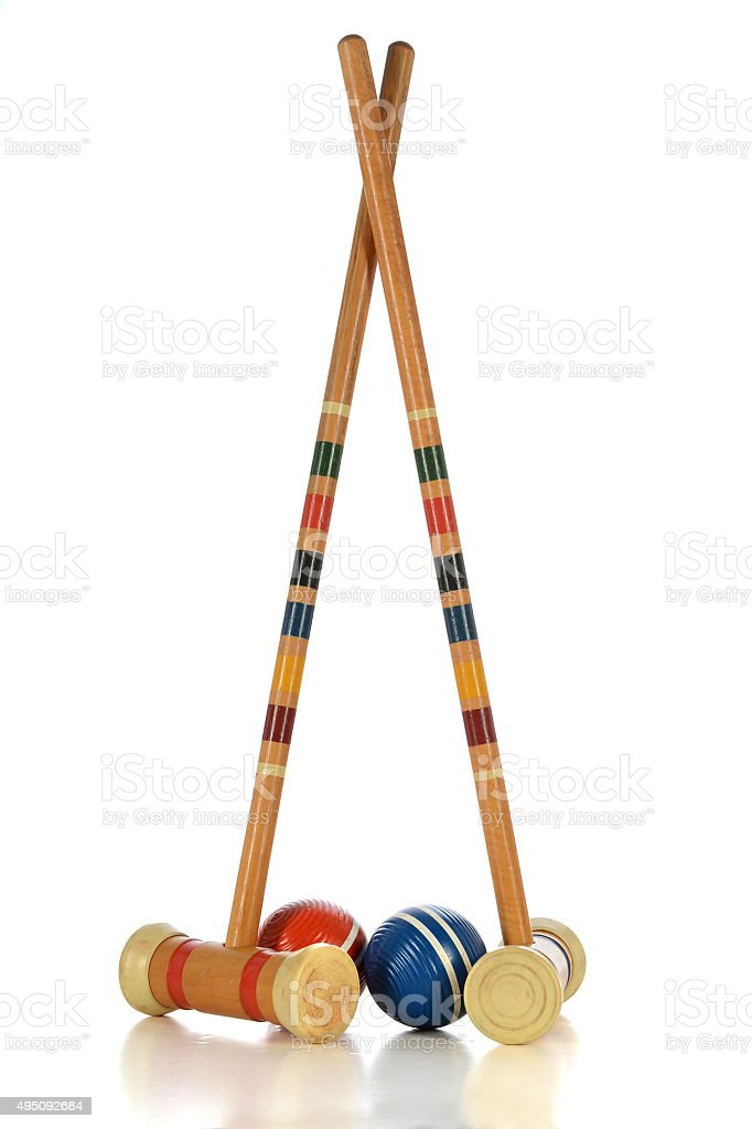 Croquet Game Equipment stock photo