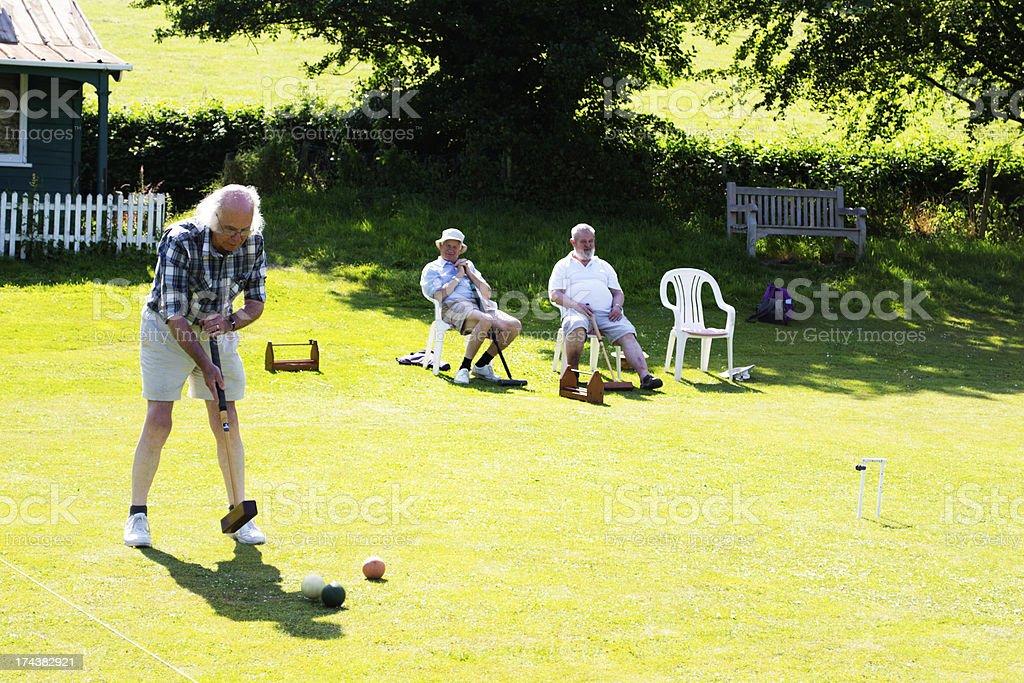 Croquet Match stock photo