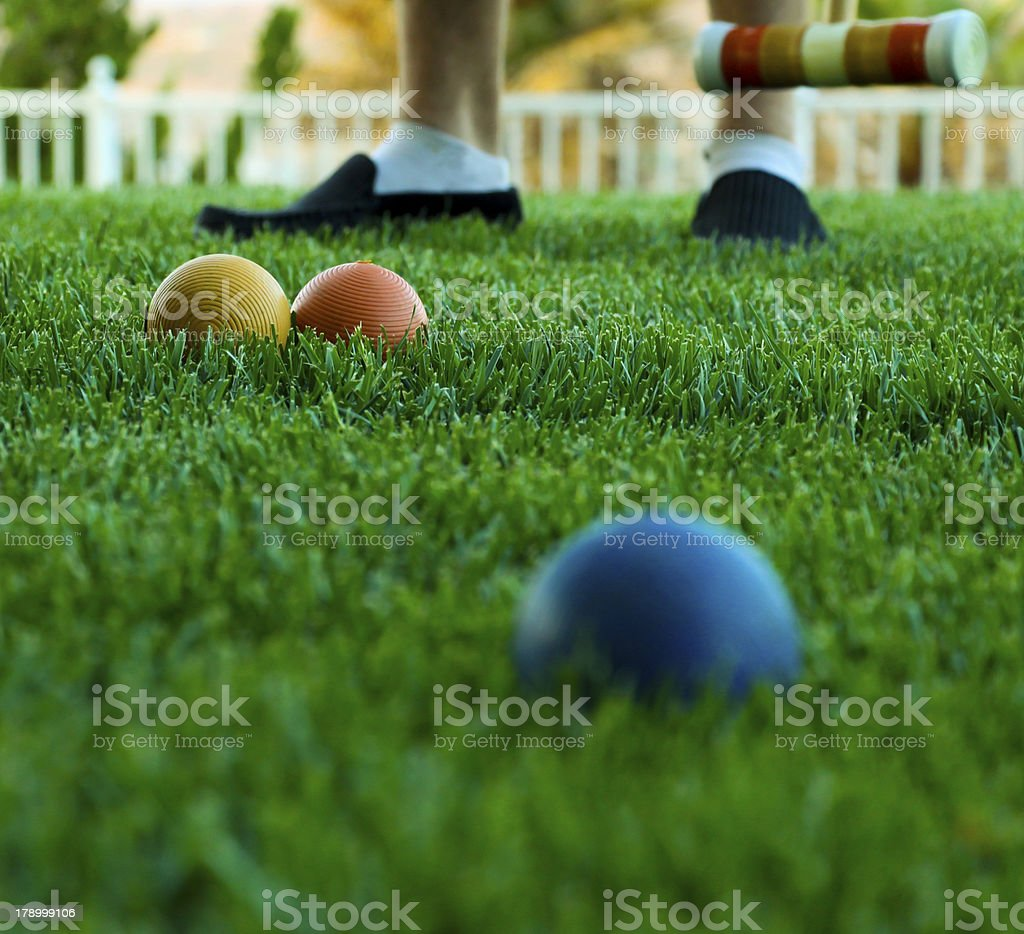 Croquet royalty-free stock photo