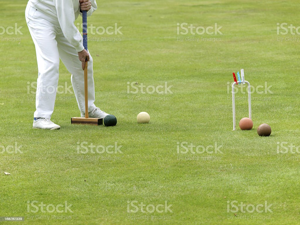 Croquet Player stock photo