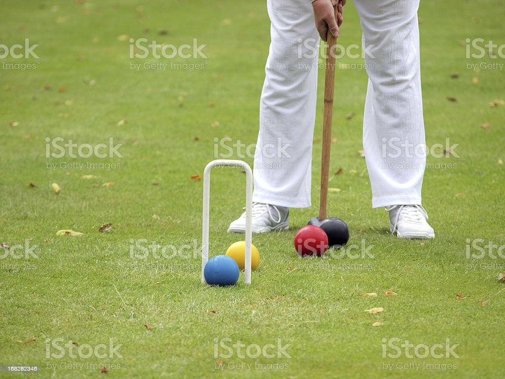 Croquet Player stock photo