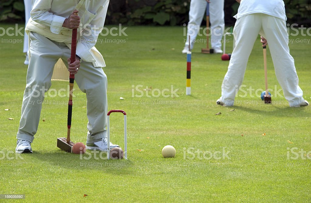 Croquet Players stock photo
