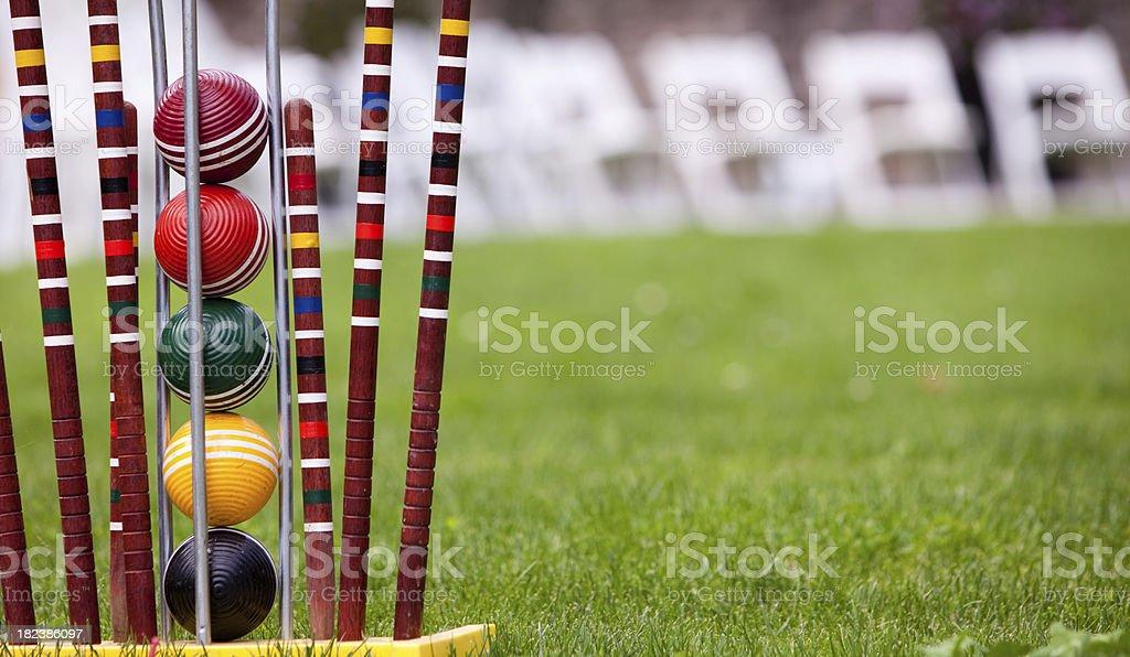 Croquet set royalty-free stock photo