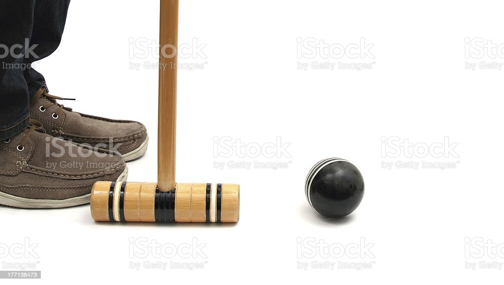 croquet situation stock photo