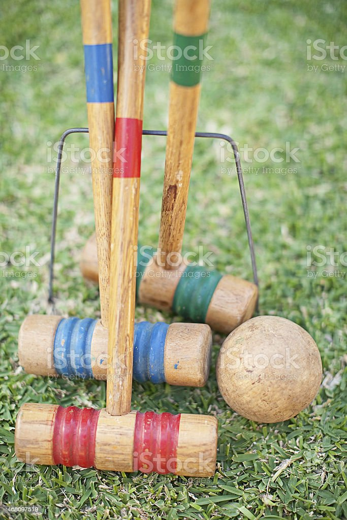 Croquet Sticks stock photo