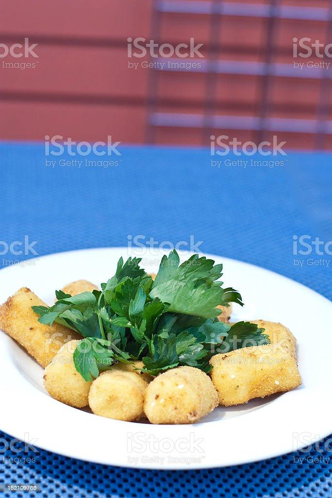 Croquette Potatoes stock photo