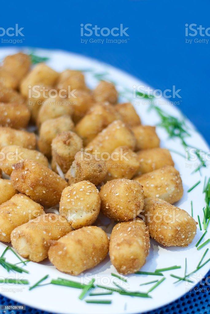 Croquette Potatoes. stock photo