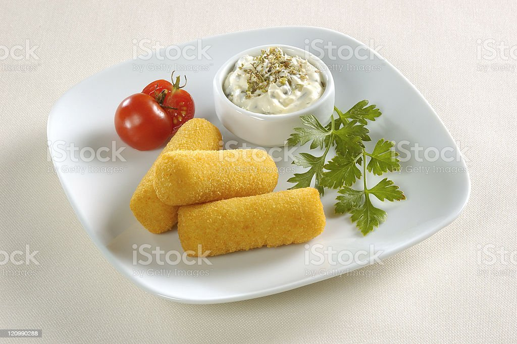 croquettes royalty-free stock photo