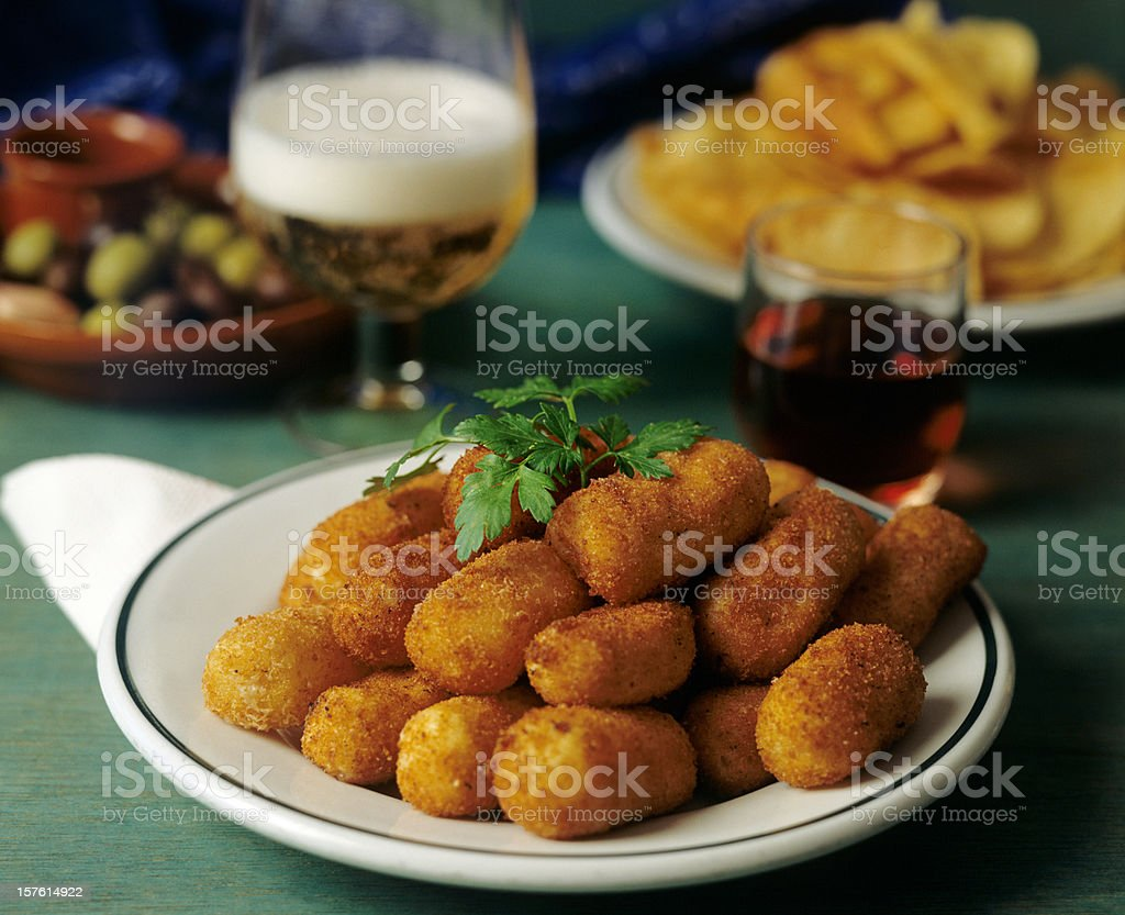 Croquettes stock photo