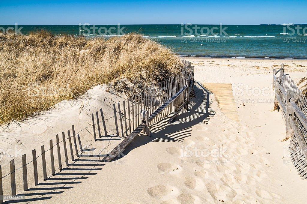 Crosby Landing Beach stock photo