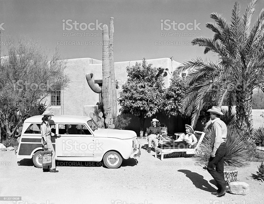 Crosley station wagon 1948 stock photo