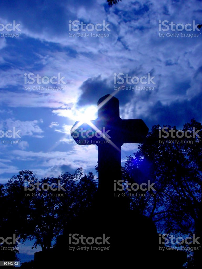 Cross Against Cloudy Sky royalty-free stock photo