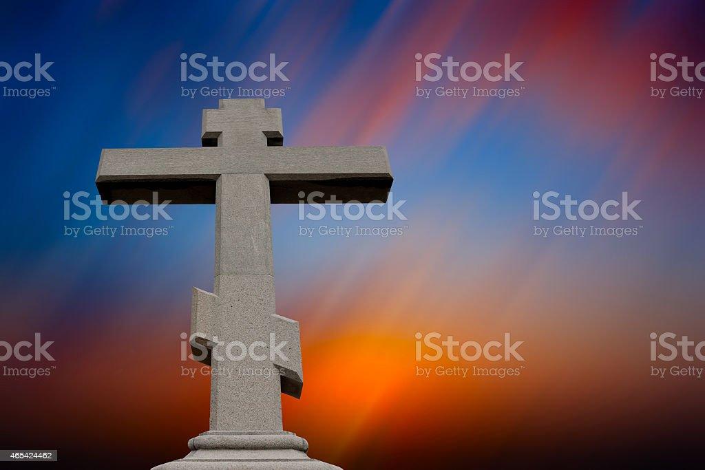Cross against sky stock photo