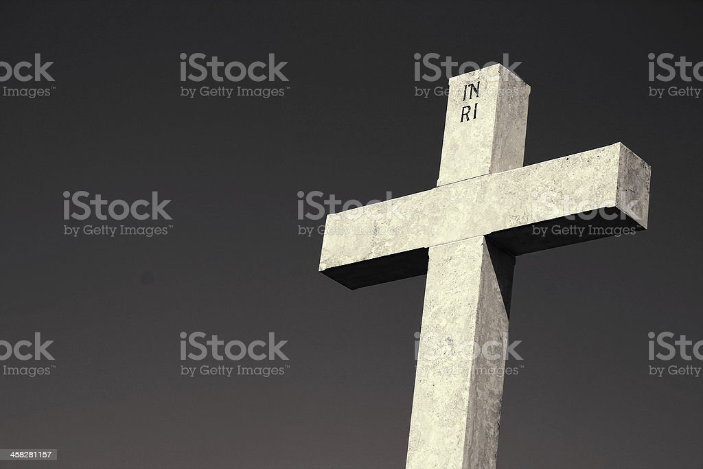 Cross against the sky royalty-free stock photo