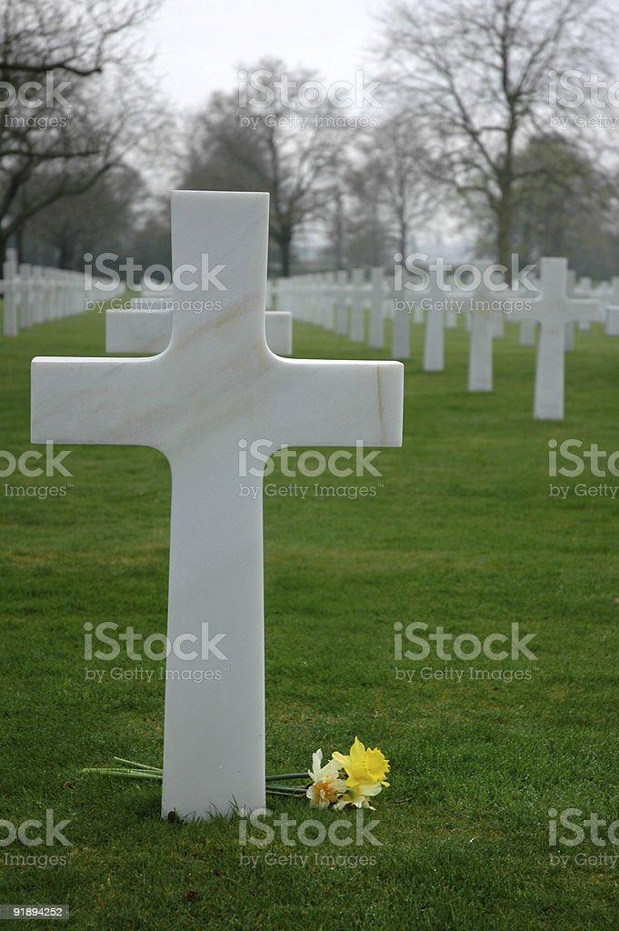 Cross & Grave royalty-free stock photo