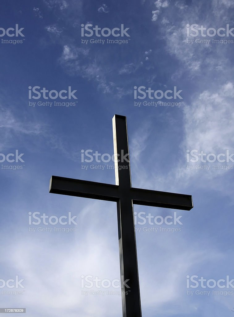 Cross and Blue Sky royalty-free stock photo