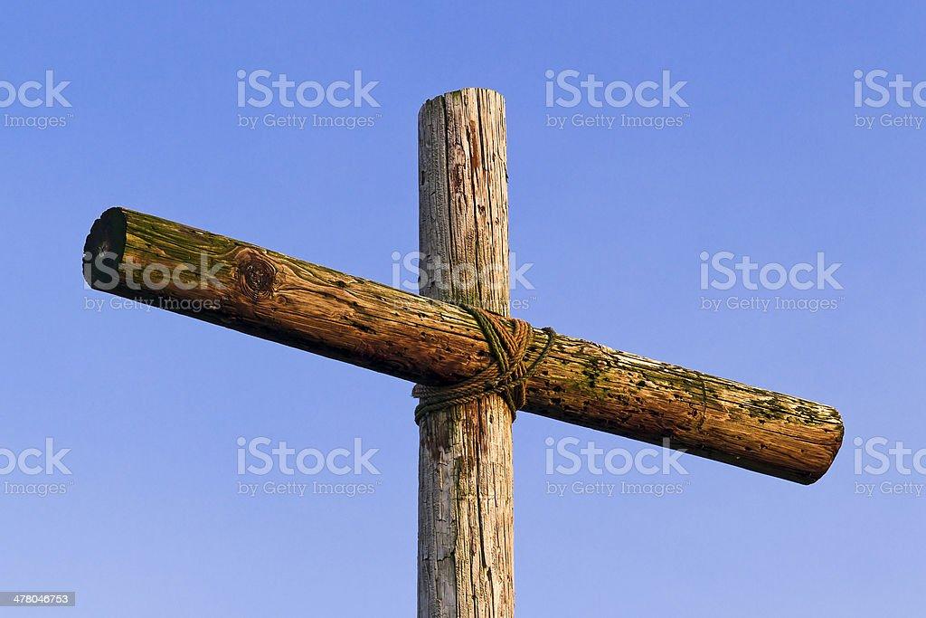 Cross e Blue Sky foto stock royalty-free