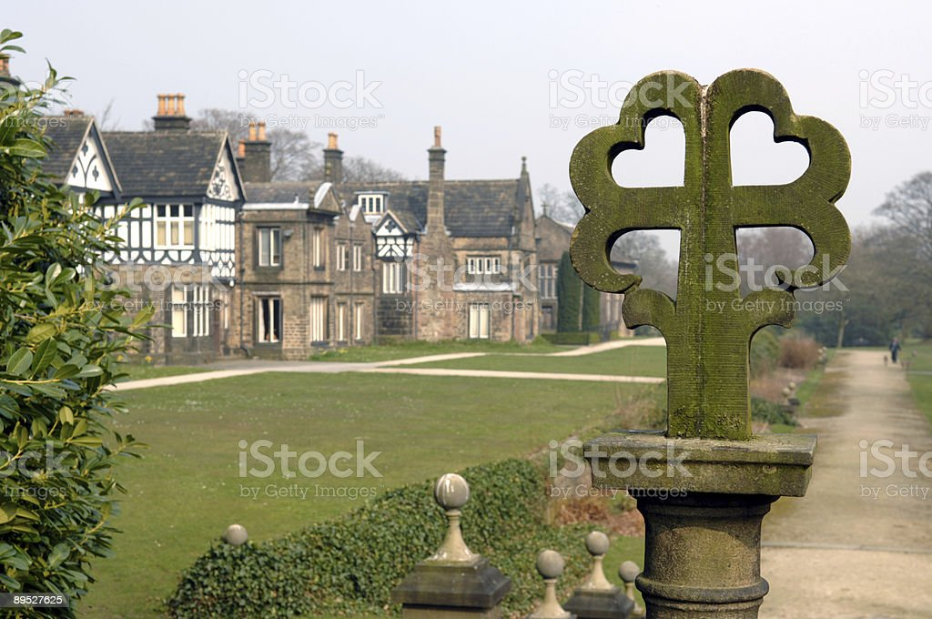 Cross and Hall royalty-free stock photo