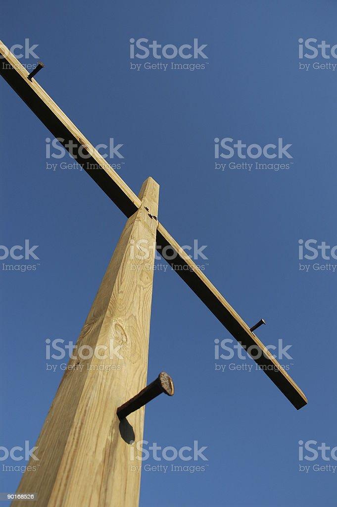 Крест и ногтей Стоковые фото Стоковая фотография