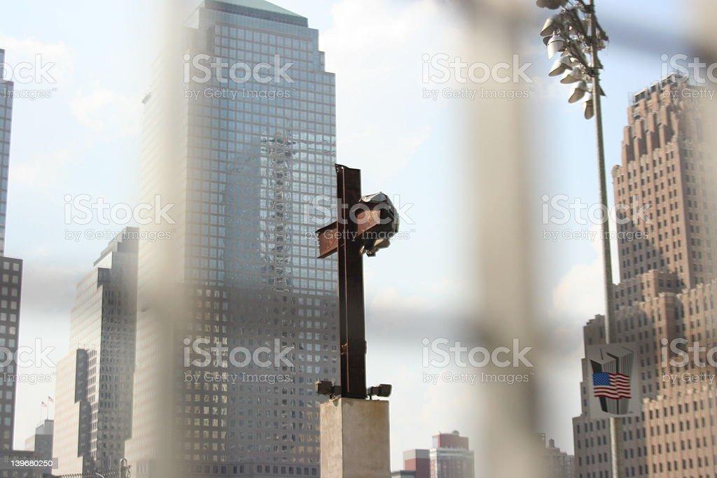 cross at ground zero royalty-free stock photo