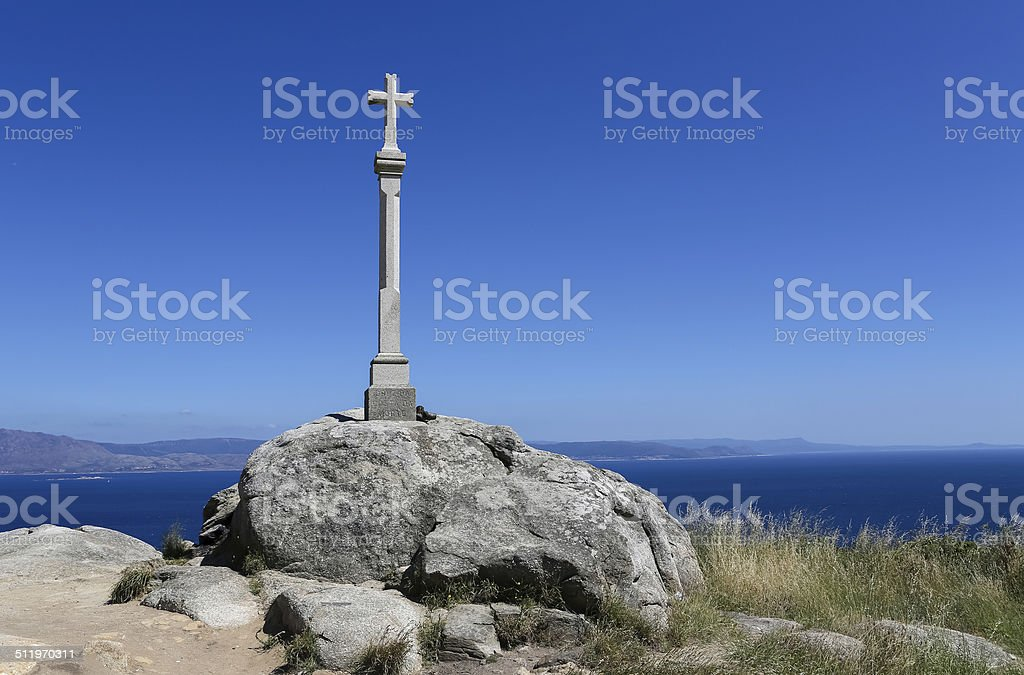 Cross at the End of the World stock photo