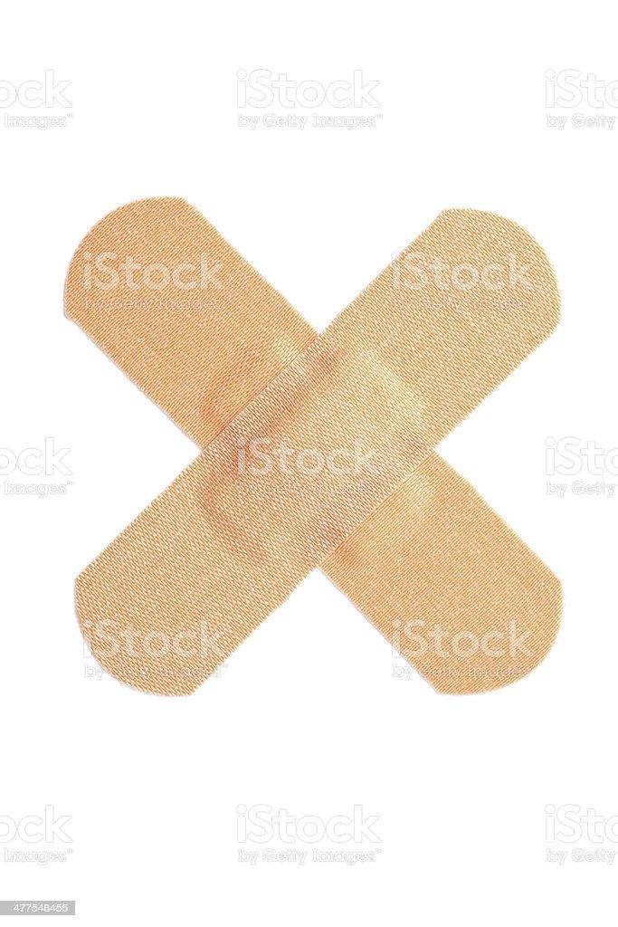 cross band-aid / bandage stock photo