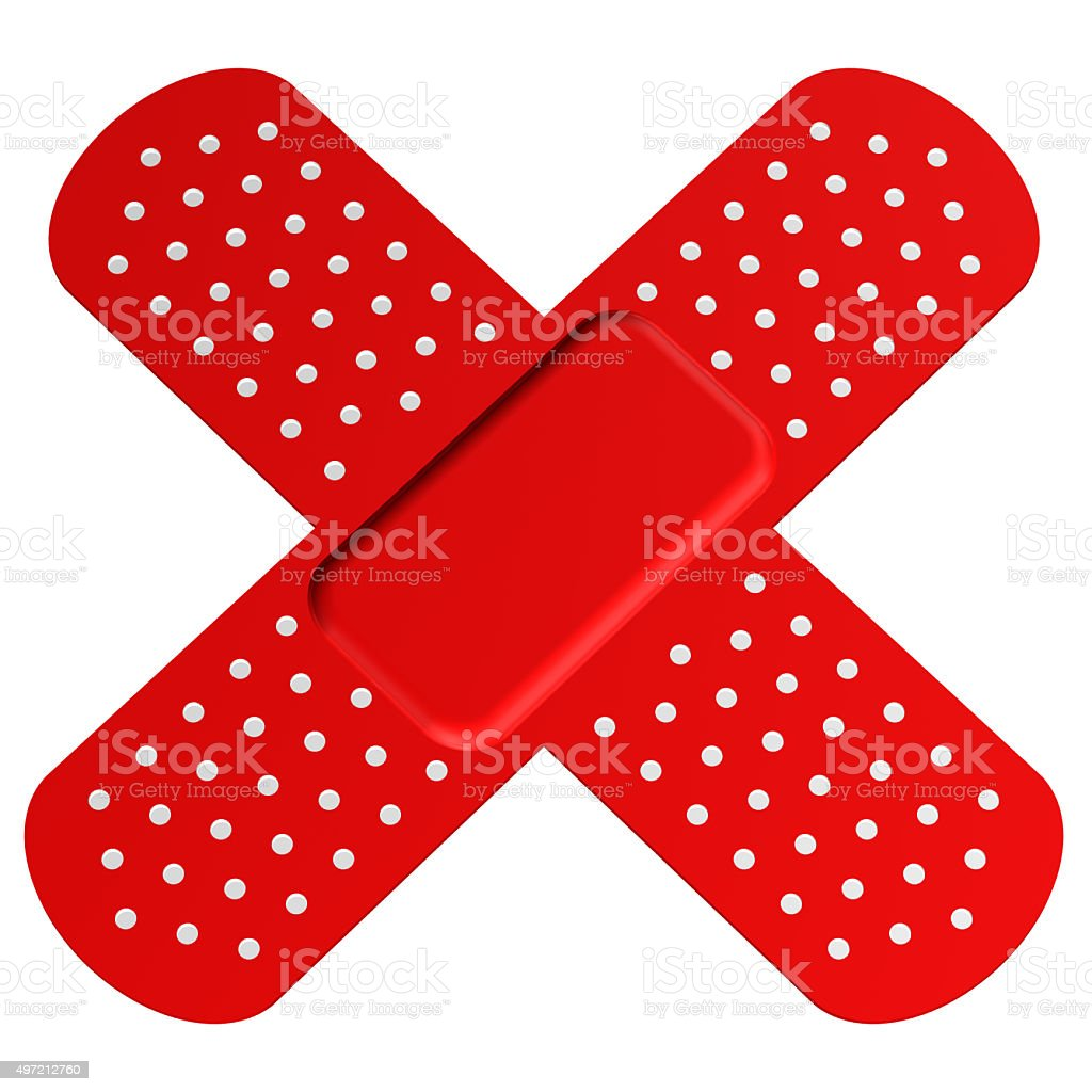 Cross bandaid stock photo