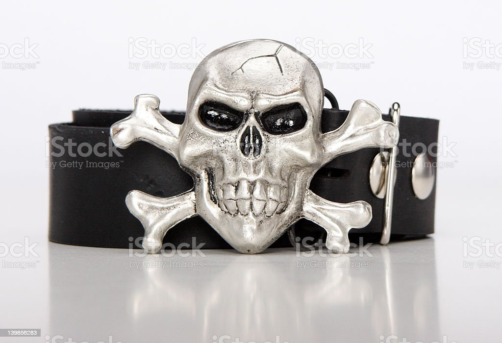cross bones buckle royalty-free stock photo