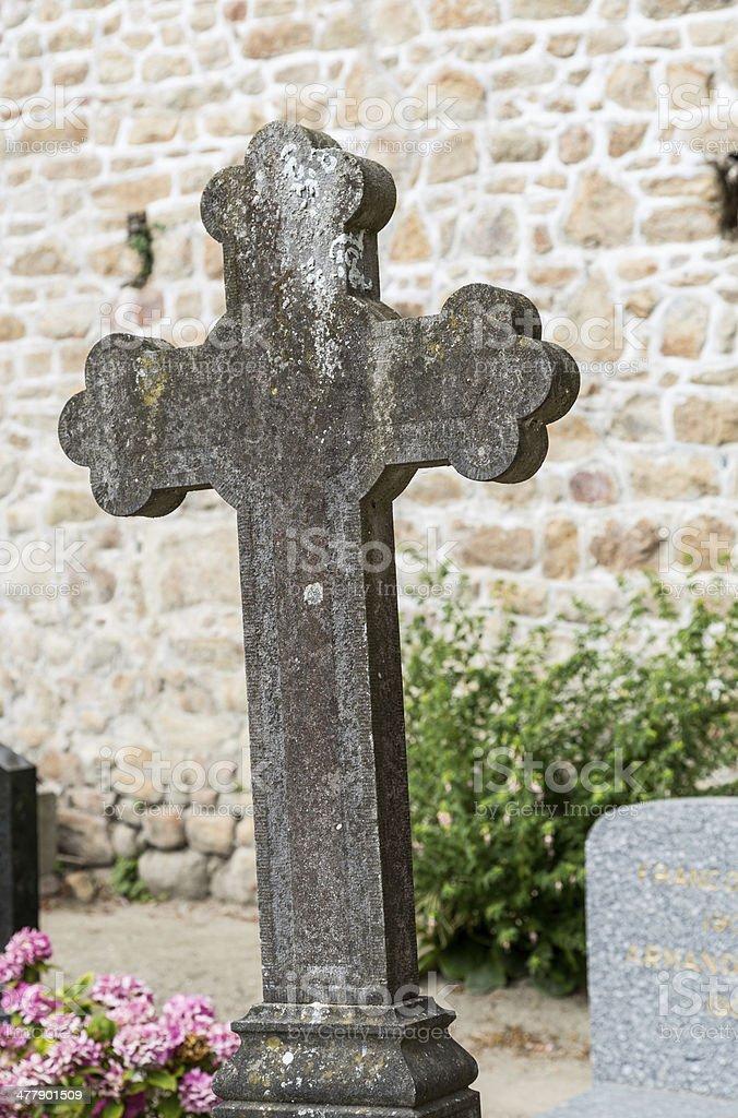 Cross cemetery royalty-free stock photo
