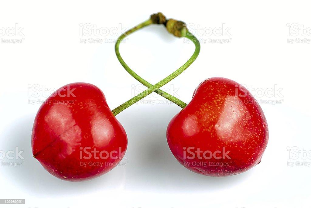 Cross cherries royalty-free stock photo