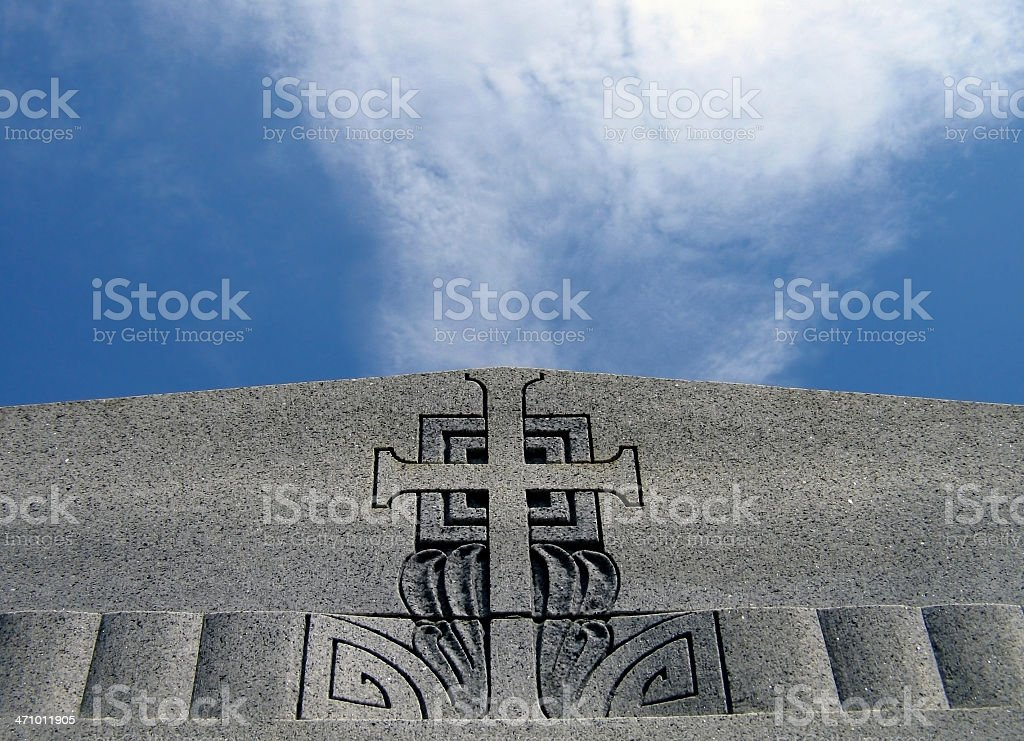 Cross, Clouds, Sky - New Orleans royalty-free stock photo