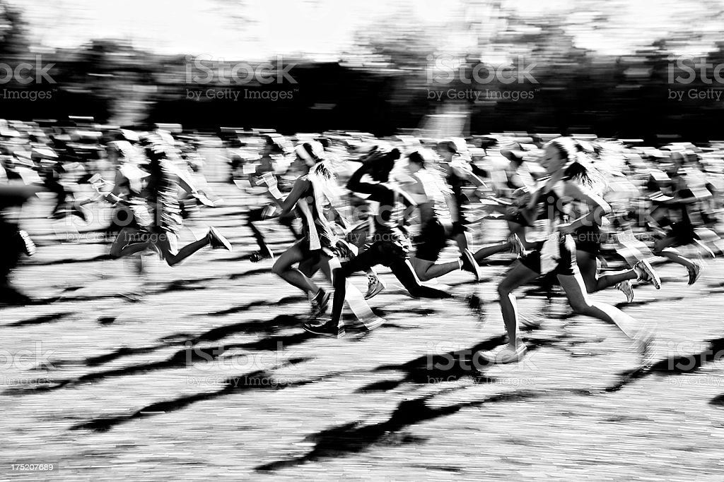 Cross Country Abstract. stock photo