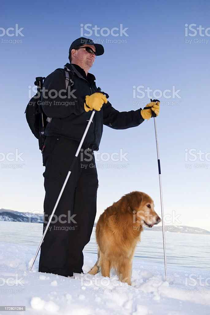 Cross Country und Hund Lizenzfreies stock-foto
