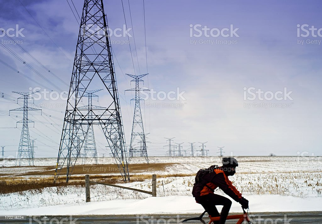Cross Country Cyclist royalty-free stock photo