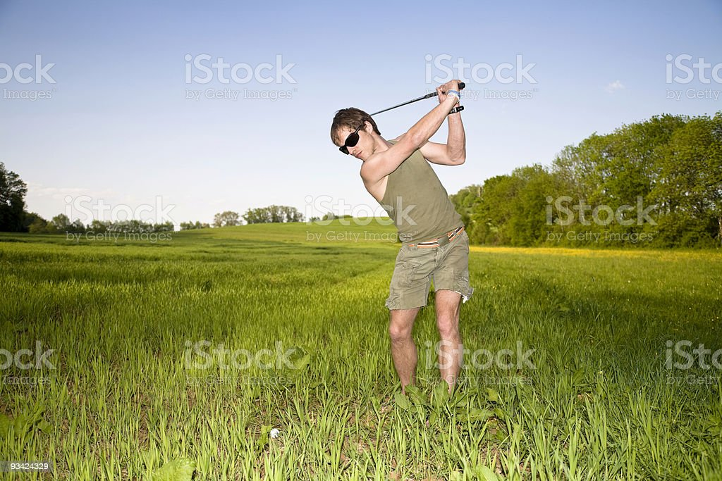 cross country golf swing I royalty-free stock photo