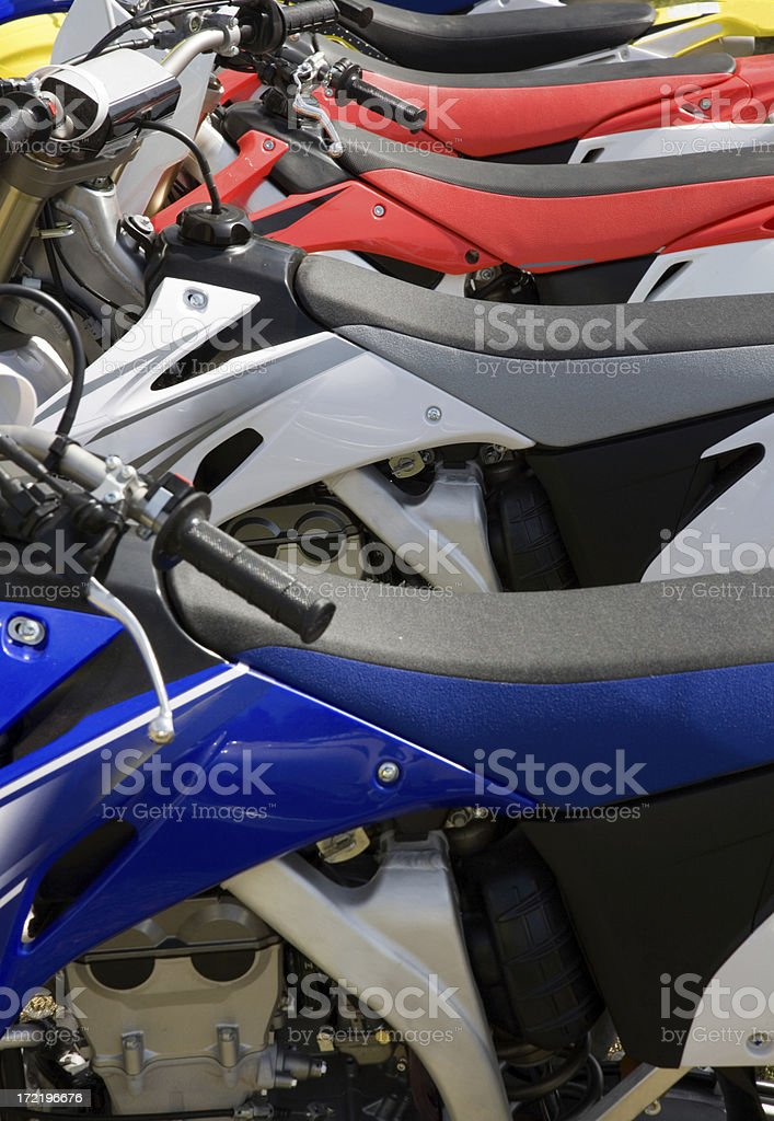 Cross Country Motorcycles royalty-free stock photo