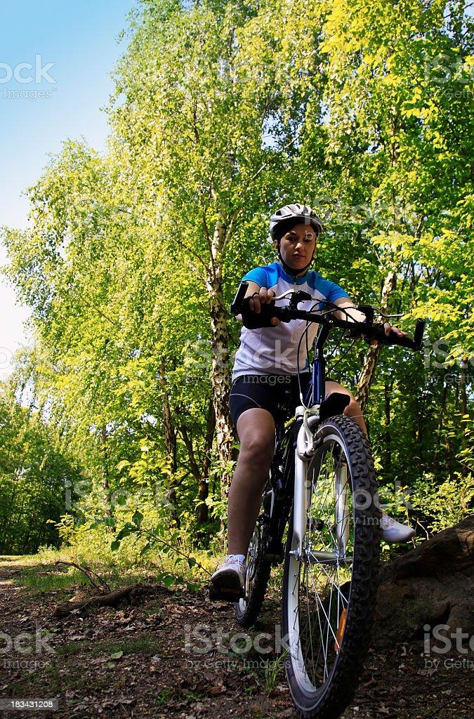 Cross country mountain biking stock photo
