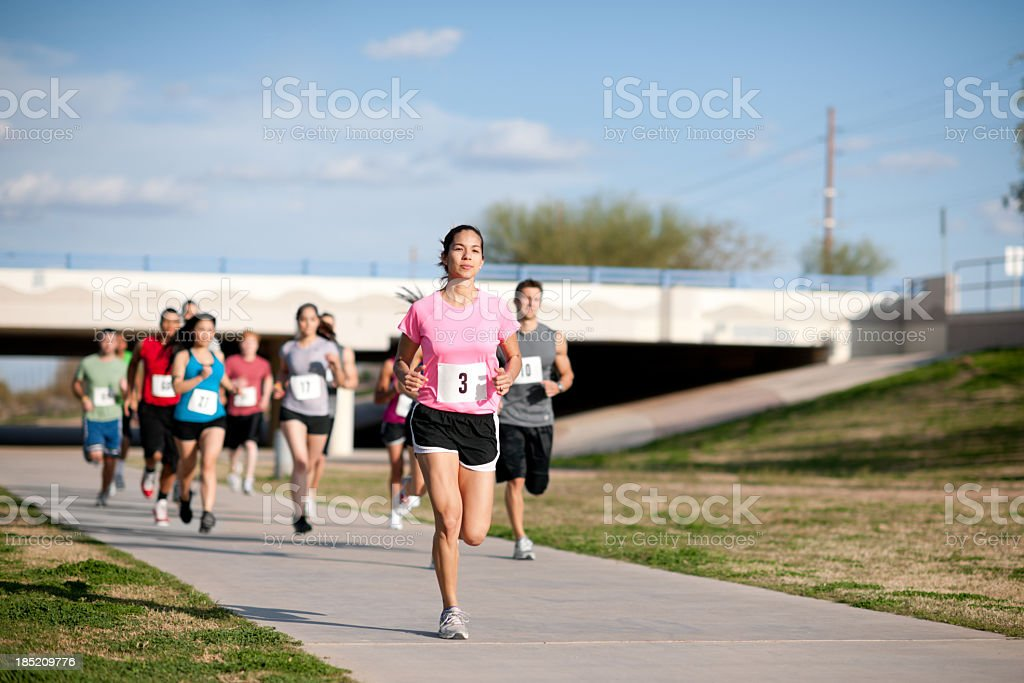 Cross country race stock photo