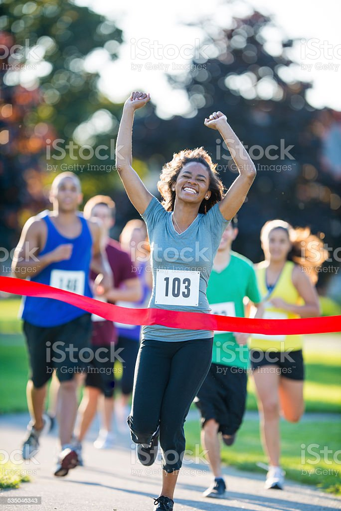 Cross Country Race stock photo