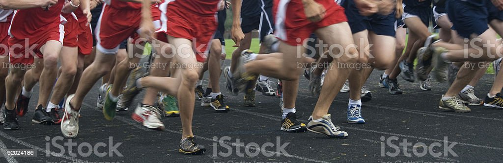Cross Country Race royalty-free stock photo