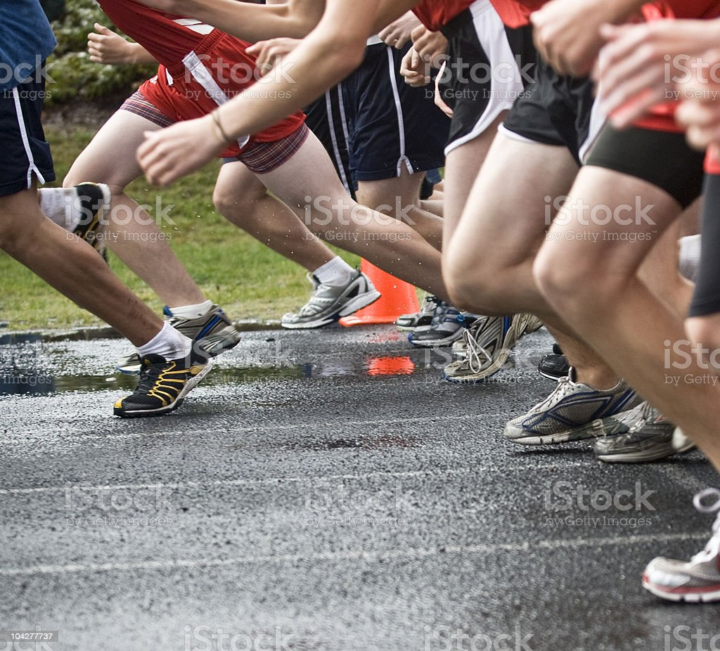 Cross Country Race Start royalty-free stock photo