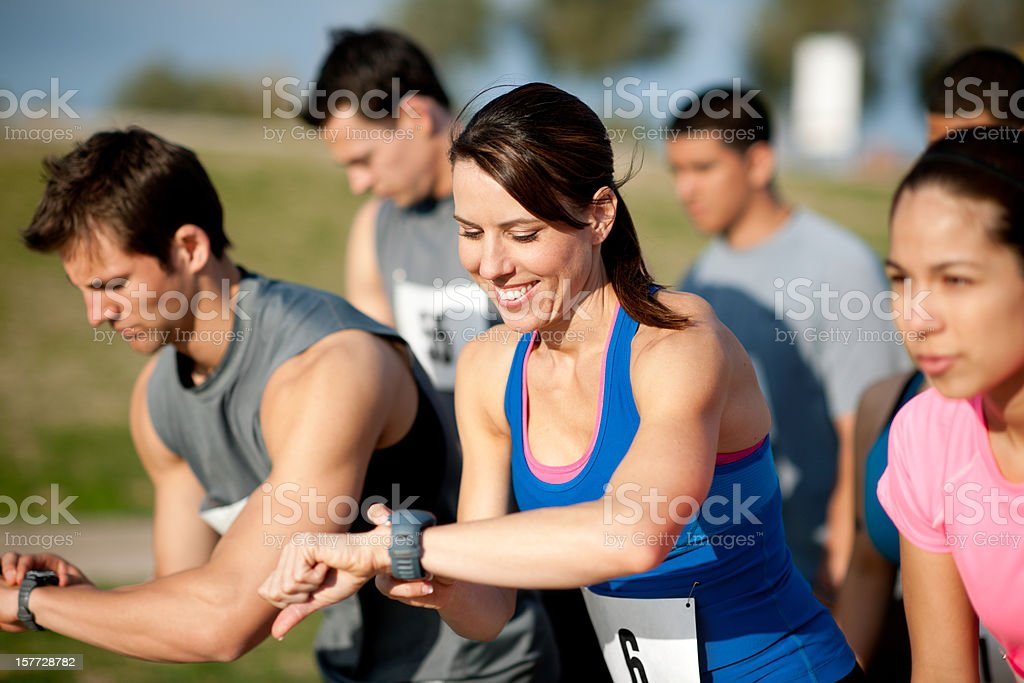 Cross country racers royalty-free stock photo