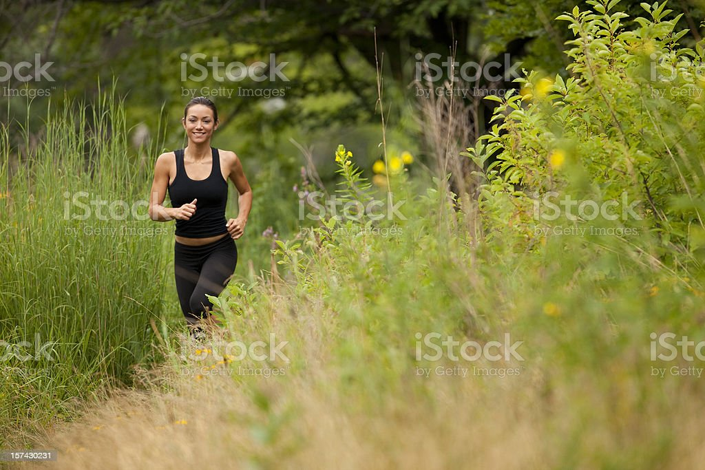 Cross Country Runner royalty-free stock photo