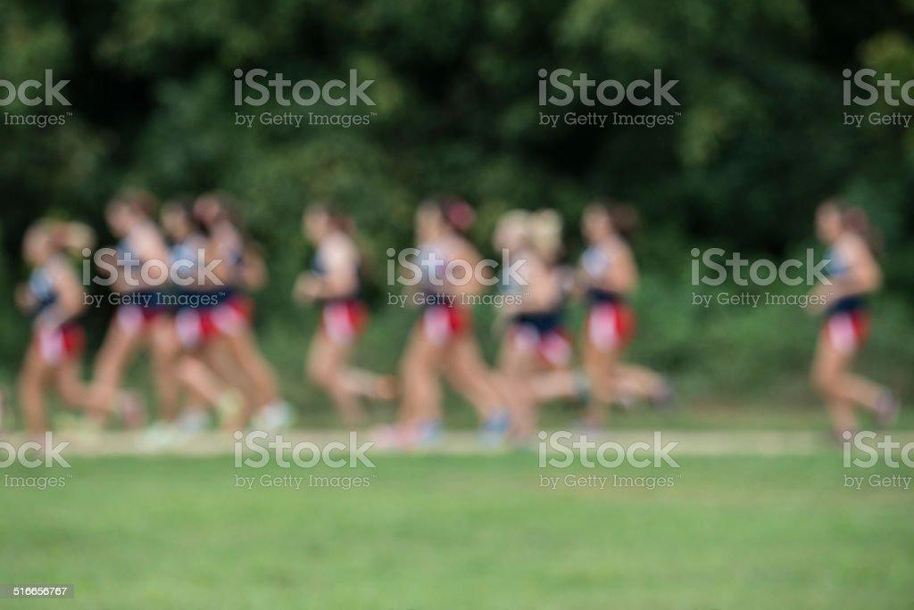 Cross country runners stock photo