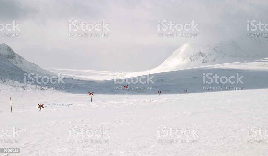 Cross country ski hiking trail, sweden royalty-free stock photo