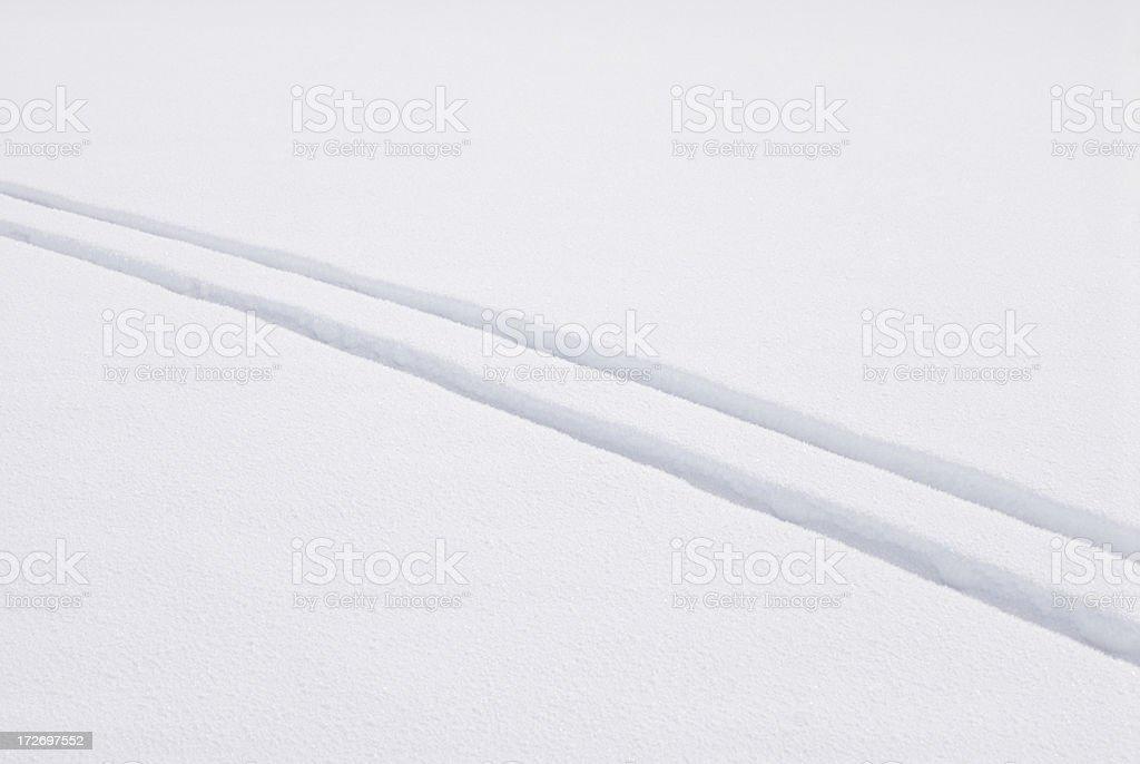 Cross Country Ski Tracks royalty-free stock photo