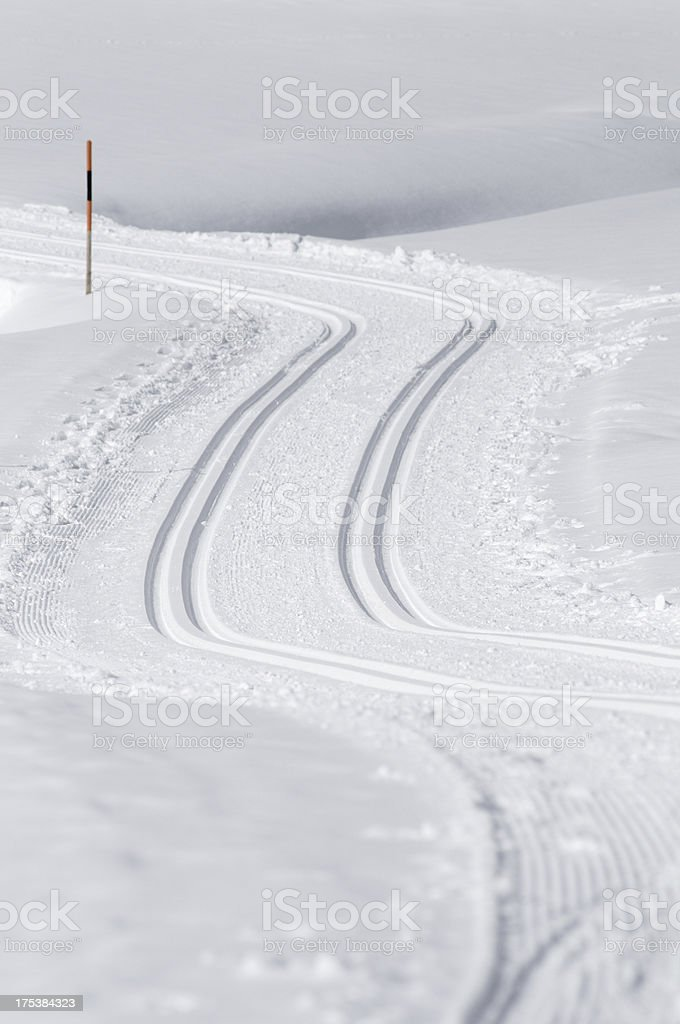 Cross Country Ski Tracks royalty-free stock photo